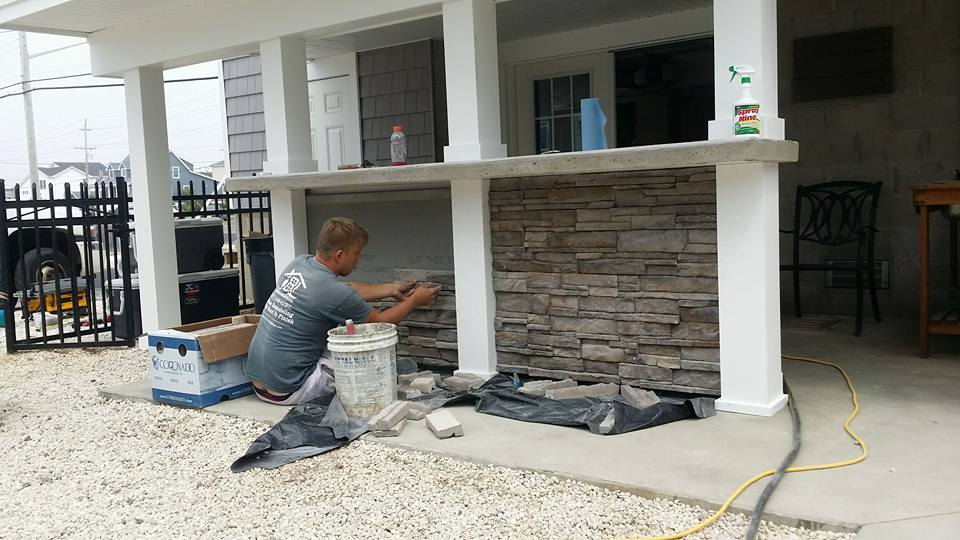 Outside stone finish