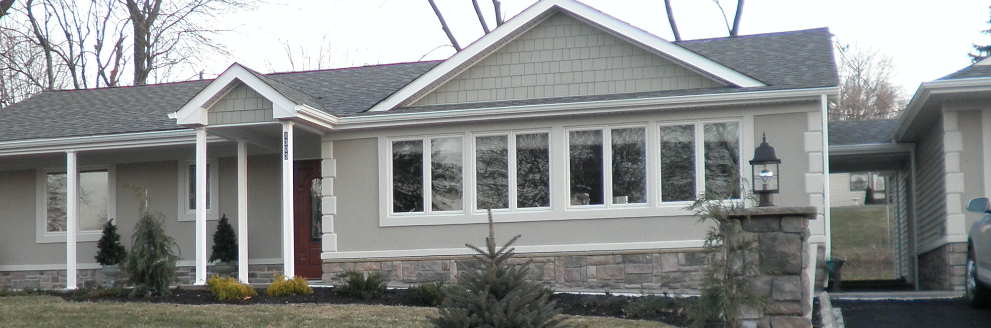 Plainsboro residence stucco and siding